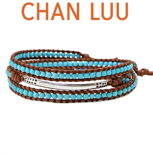 チャンルー CHANLUU ストーンビーズミックス 3連ラップブレスレット メンズ チャンルー CHANLUU /ターコイズ BSM-1576 TURQ-NAT BRN ブラウン【215111415】
