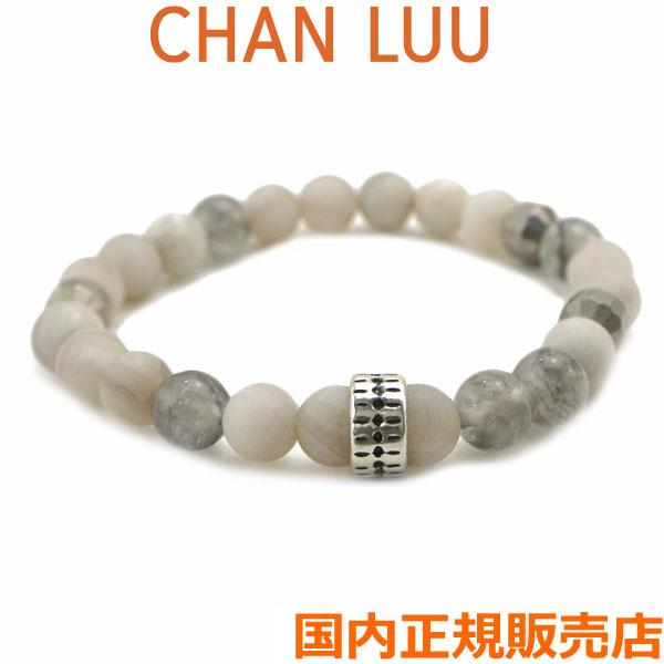 チャンルー CHAN LUU セミプレシャスストーン 天然石 ストレッチブレスレット MATTE WHITE LACE AGATE MIX チャンルー CHANLUU BSM-1730