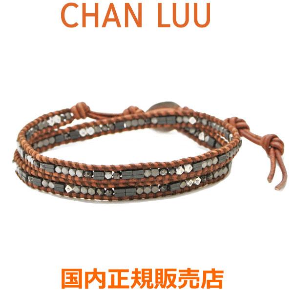 チャンルー CHAN LUU ミックスビーズ 2連ラップブレスレットブレスレット メンズ チャンルー CHANLUU BSM-1716 NATURAL BROWN MIX