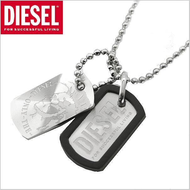 ディーゼル DIESEL ネックレス/ペンダント ダブルプレート/ドッグタグ ディーゼル DX0202040