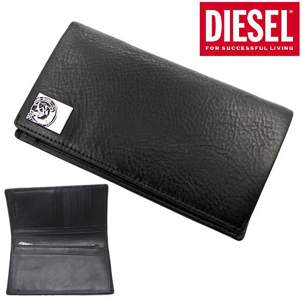 ディーゼル DIESEL 長財布 ミディアムウォレット 本革 ブラック メンズ モヒカン ディーゼル DIESEL X05343 PR480 T8013
