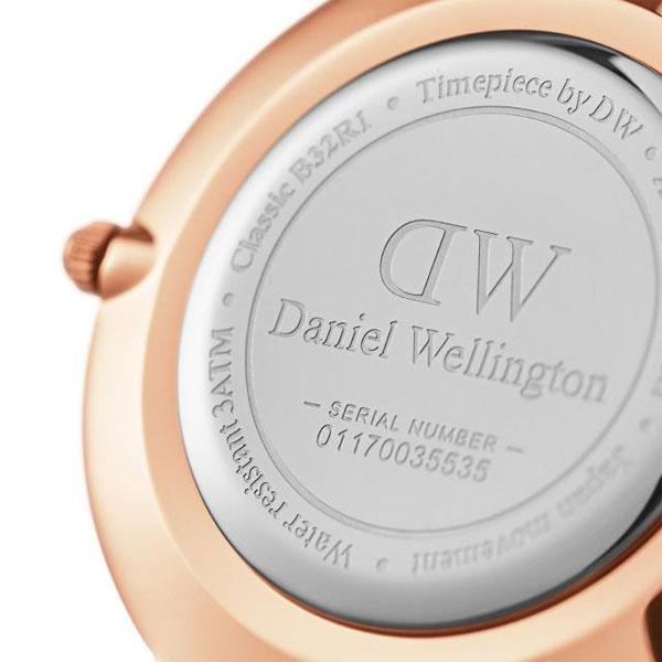Daniel Wellington Daniel Wellington watch Classic PETITE BONDI/ classical music Pettit Bonn die Lady's 32mm leather belt white x Rose gold Daniel Wellington DW00100189