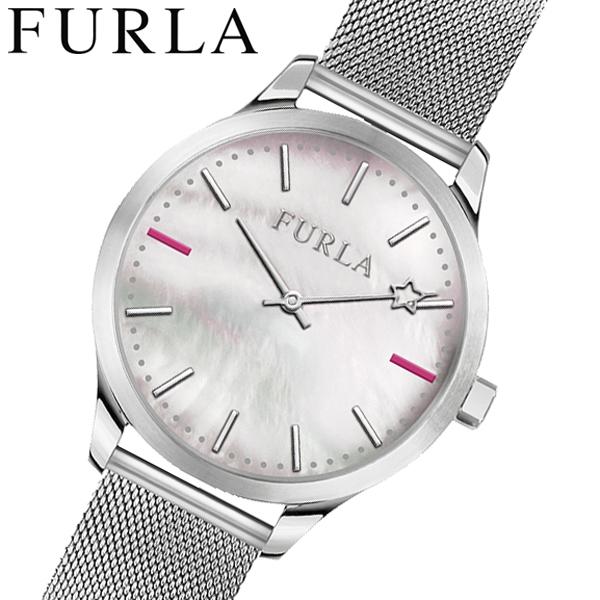 フルラ FULRA 腕時計 レディース ホワイトシェル メッシュベルト LIKE R4253119504