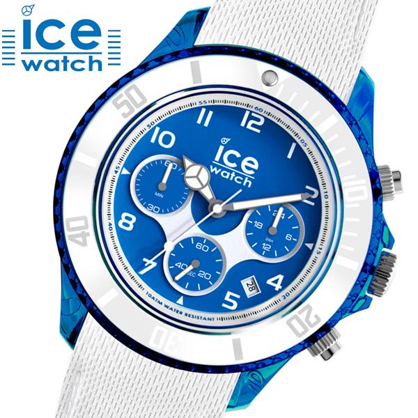 【クリーナープレゼント】【アイスウォッチ】ICE WATCH 腕時計ICE dune BLUE x WHITE アイスデューン クロノグラフ ブルー x ホワイト・ラージ/メンズ アイスウォッチ ICE WATCH 014220