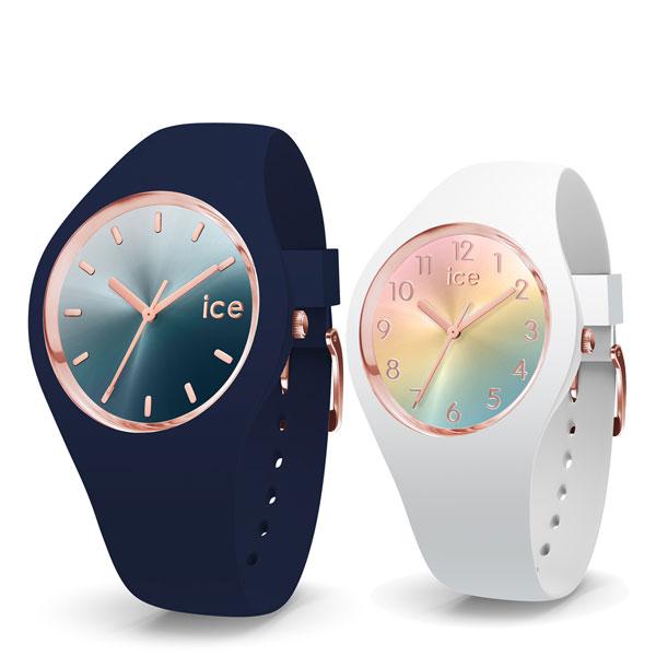 【クリーナープレゼント】【アイスウォッチ】ICE WATCH ペアウォッチ(2本セット)腕時計 ICE sunset アイスサンセット ミディアム 40mm & スモール 34mm ICE WATCH アイスウォッチ 015751 015743