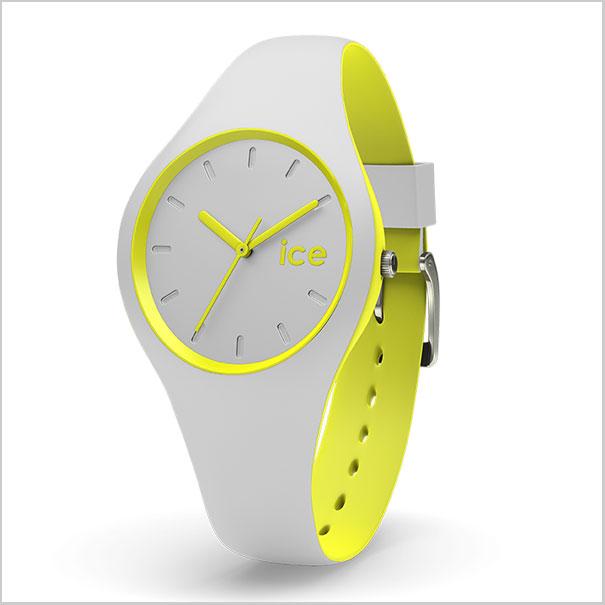 【クリーナープレゼント】【アイスウォッチ】ICE WATCH 腕時計 ICE DUO アイスデュオ グレーイエロー スモール/レディース アイスウォッチ ICE WATCH DUO.GYW.S.S