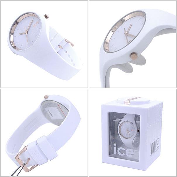 ICE WATCH 시계 아이스 그램 ICE-GLAM 스몰 화이트 로즈 골드/레이디스 아이스 워치 ICE.GL. WRG. SS