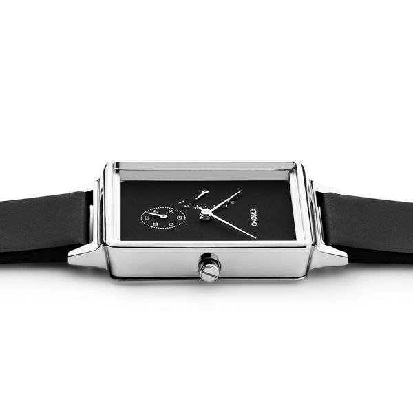 【KOMONO 国内正規品】【1年保証】KOMONO コモノ 腕時計 KONRAD RETROGRADE BLACK SILVER コンラッド レトログラード ブラック シルバー メンズ・レディース/ユニセックス KOMONO コモノ KOM-W4202