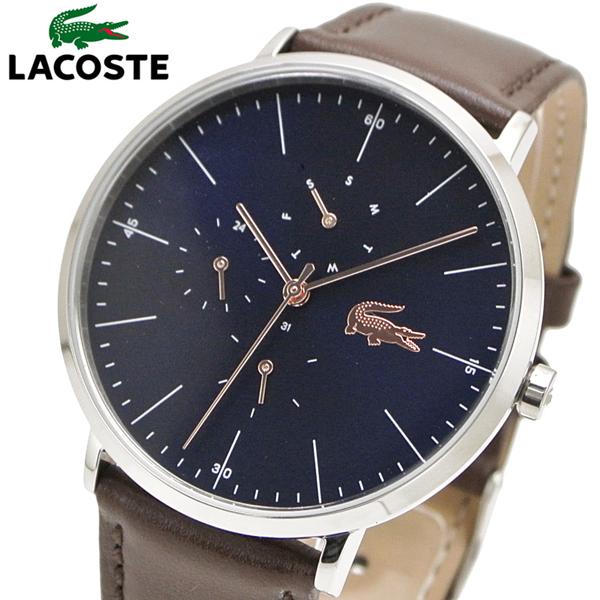 ラコステ LACOSTE 腕時計 メンズ 40mm ネイビー文字盤 マルチカレンダー 2010976