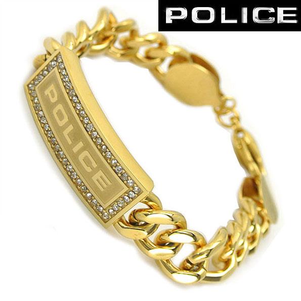 ポリス POLICE ブレスレット・ステンレススチール(ゴールドカラー) ポリス 25144BSG01