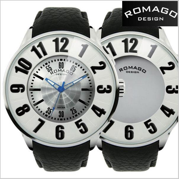 ロマゴデザイン腕時計 ROMAGO時計 ROMAGO DESIGN 腕時計 ロマゴデザイン 時計 NUMERATION (ヌメレーション)ミラーウォッチ 牛革ベルト/ホワイト x シルバー文字盤 ROMAGO DESIGN ロマゴデザイン RM007-0053ST-SV【送料無料】