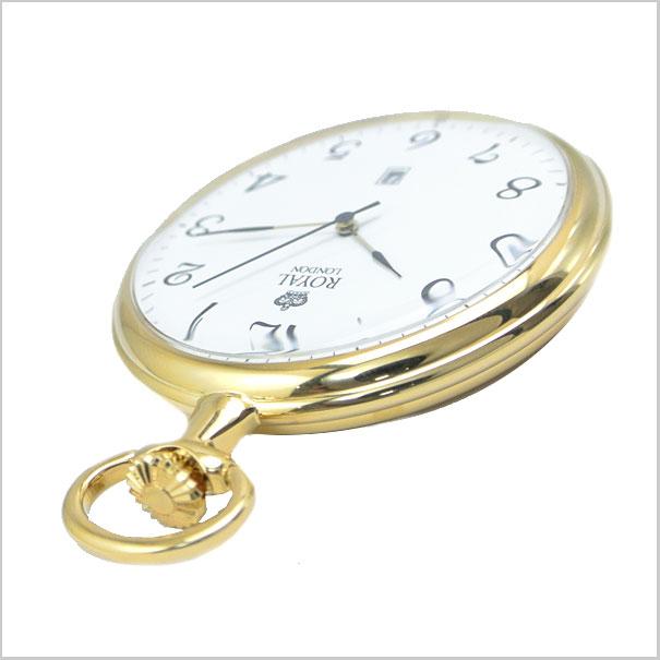 회 중 시계 주머니 시계/쿼 츠 남성용/골드 (체인) 90015-02