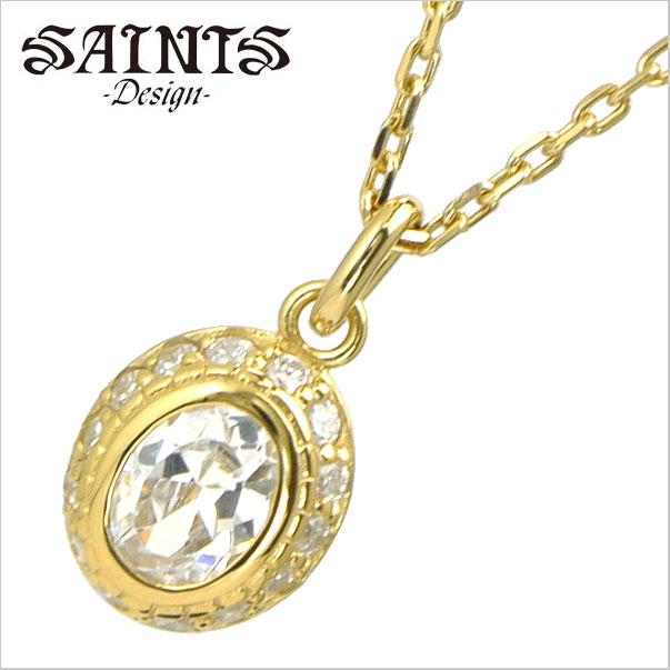【SAINTS Design セインツ デザイン】ブライトネスゴールドネックレス/ペンダント・レディース シルバー925製 SSP2-214GD【送料無料】