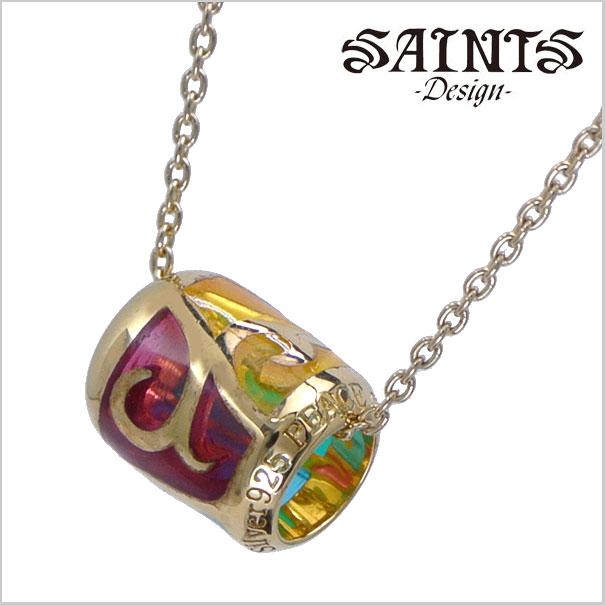 【SAINTS Design セインツ デザイン】ゴールドステンドリングネックレス/ペンダント シルバー925製 SSP9-112G【送料無料】