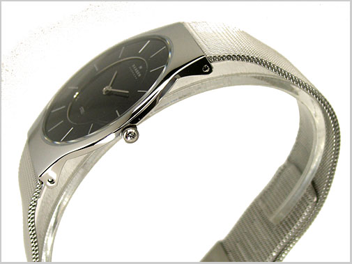 SKAGEN (Skagen) ultra slim mens Watch (mesh-belt black letter Edition) 57% 233LSSB