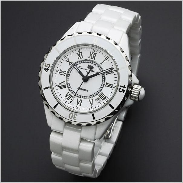 萨尔瓦托雷马拉 PA 手表手表男装女装两集 / 白色罗马数字 SM15120-SM15151-腰臀比