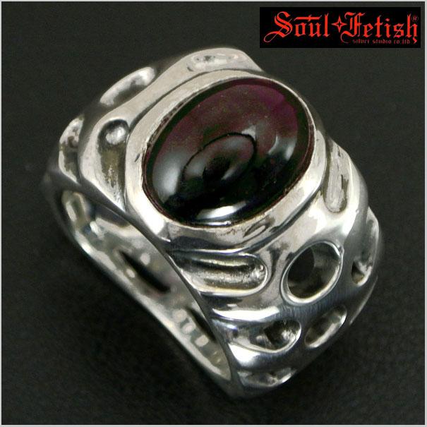 Soul Fetish(ソウルフェティッシュ) ガーネット入りシルバーリング R1006G【送料無料】