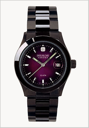(regular article) 20%OFF ML -189 for SWISS MILITARY (the Swiss military) elegant black violet clockface / men