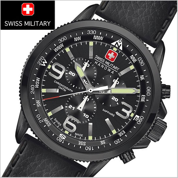 Bell Field  Chronograph watches SWISS MILITARY WATCH (Swiss military Watch)  ML-400 ARROW (arrow) black dial (men s)  6331ec980a