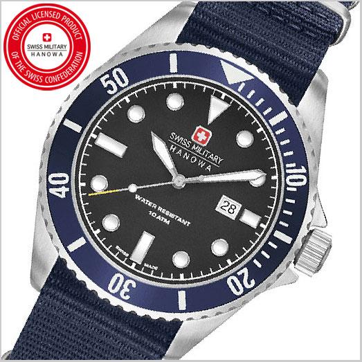 SWISS MILITARY スイスミリタリー 腕時計・NAVY ブラック文字盤 メンズ ML-414
