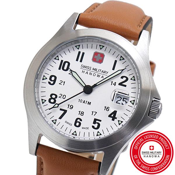 【クリーナープレゼント】スイスミリタリー 腕時計 SWISS MILITARY CLASSIC ORIGINAL V クラシック オリジナル ユニセックスメンズ レディース/レザーベルト ホワイト文字盤 ML-453