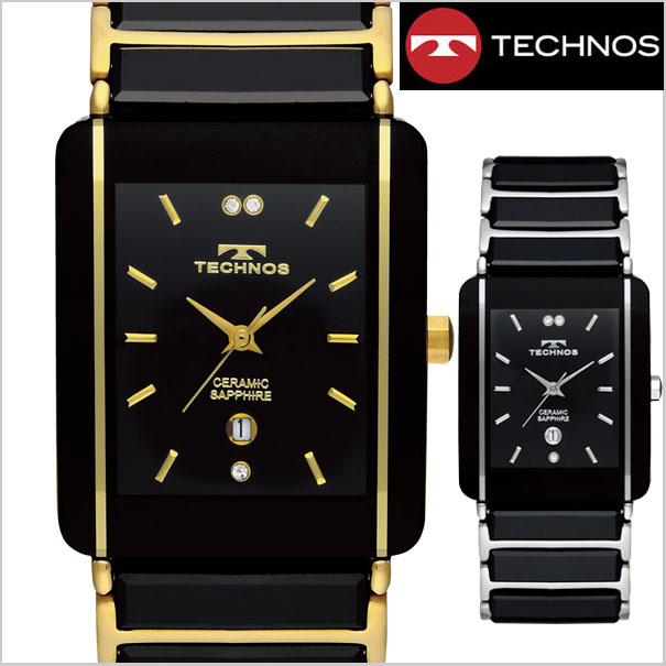 cb56c0f0582c2 Bell Field  TECHNOS watch men s ceramic  amp  stainless steel TSM903 ...