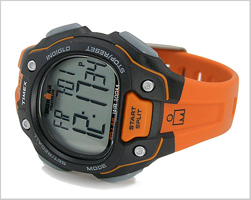 Watch Ironman 50 lap fullsize (mens size) black / orange (genuine) T5K493/TIMEX (Timex)