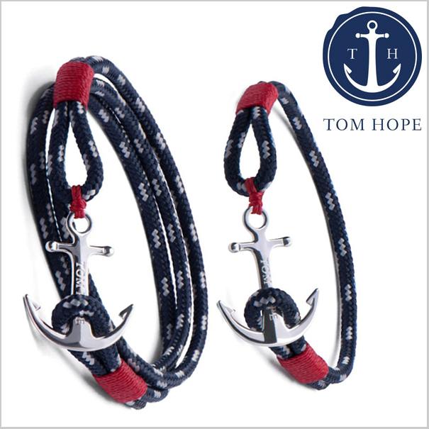 TOM HOPE トムホープ ペアブレスレット(男女2本セット) Atlantic 3連メンズ& 1連レディース アンカーモチーフ TM0032 TM0040