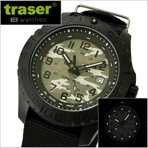 【クリーナープレゼント】traser(トレーサー) 腕時計 Outdoor Pioneer Camouflageアウトドアパイオニア カモフラージュ/日本限定モデル 自己発光システム搭載 ミリタリーウォッチ 9031562