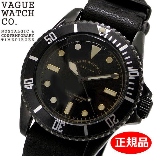 【クリーナープレゼント】【正規品】VAGUE WATCH Co. ヴァーグ ウォッチ カンパニー 腕時計 ブラック サブ 40mm メンズ ステンレスベルト VAGUE WATCH BS-L-N001