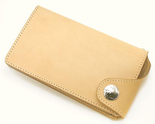 牛革二つ折り長札財布(サドルレザー)・小銭入れ付 W2FL02-2