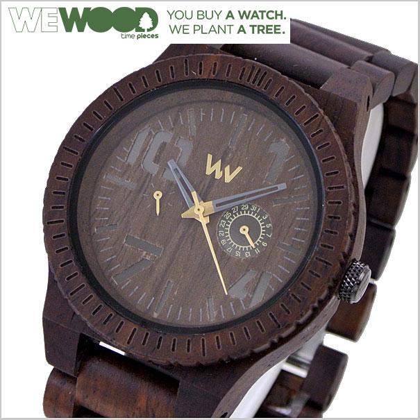 WEWOOD ウィーウッド OBLIVIO チョコ 腕時計 天然木製(ナチュラルウッド) マルチカレンダー ユニセックス/男女兼用 9818082【送料無料】
