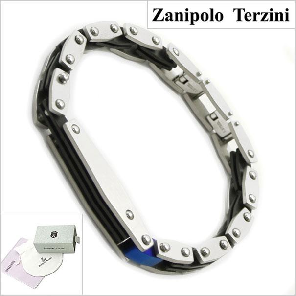 Zanipolo Terzini(ザニポロ・タルツィーニ)サージカルステンレス製ブレスレット メンズ/ブラックIP ザニポロタルツィーニ ZTP1913-NOR【送料無料】