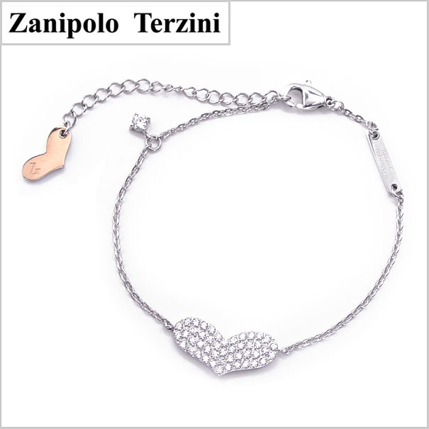 Zanipolo Terzini(ザニポロ・タルツィーニ)サージカルステンレス製 ブレスレット レディース ザニポロタルツィーニ ZTB2430-WHCZ【送料無料】