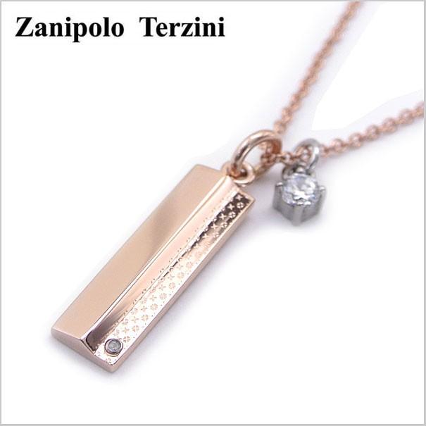 Zanipolo Terzini(ザニポロ・タルツィーニ)サージカルステンレス製 ペンダント/ネックレス 天然ダイヤモンド付き レディース(チェーン付)ザニポロタルツィーニ ZTP2272-LADY-RS【送料無料】