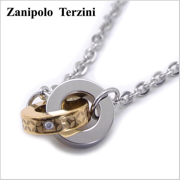 Zanipolo Terzini(ザニポロ・タルツィーニ)サージカルステンレス製 ペンダント/ネックレス 天然ダイヤモンド付き レディース(チェーン付)ザニポロタルツィーニ ZTP2278-LADY-GD【送料無料】