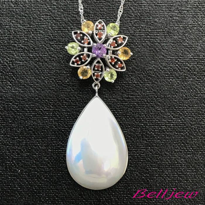 【送料無料】Belljew ベルジュ ペンダント ネックレス マベパール マベ真珠