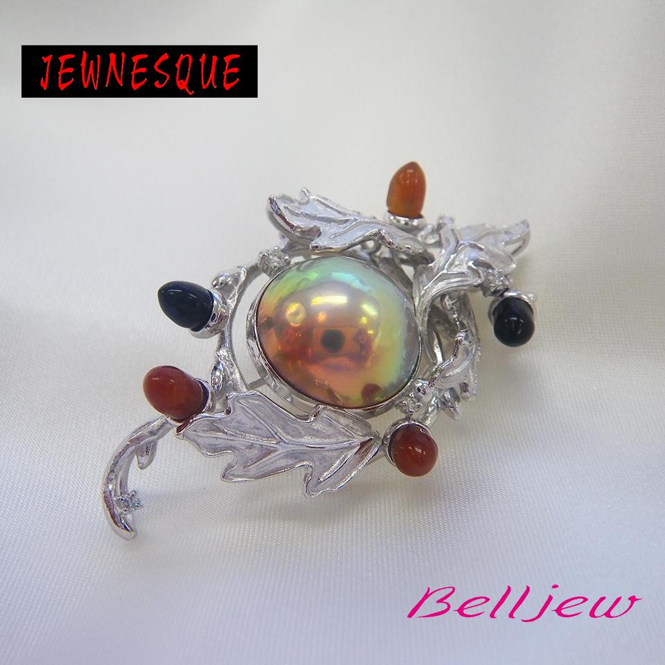 【送料無料】Belljew ベルジュ ペンダント ブローチ マベパール マベ真珠
