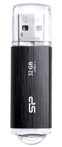 シリコンパワー USBメモリ 32GB USB3.1 USB3.0 使い勝手の良い ヘアライン仕上げ 人気商品 SP032GBUF3B02V1K 永久保証 Blaze B02