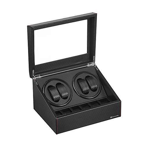 本店 令和最新版 ワインディングマシーン 4本巻き+6本収納 ウォッチワインダー マブチ 日本製 定価 自動巻き時計ワインディングマシーン