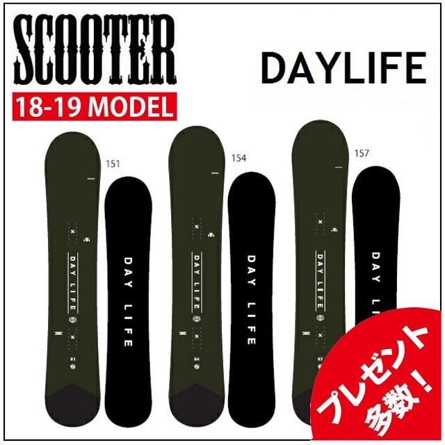 18-19 SCOOTER スクーター スノーボード DAYLIFE デイライフ
