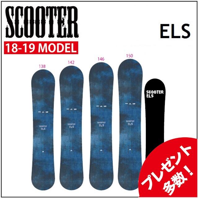 18-19 SCOOTER スクーター スノーボード ELS イーエルエス レディース