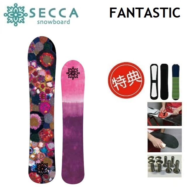 19-20 SECCA FANTASTIC セッカ ファンタスティック スノーボード 板 レディース 144 150 [ソールカバー 初期チューン ショートビス] 特典多数
