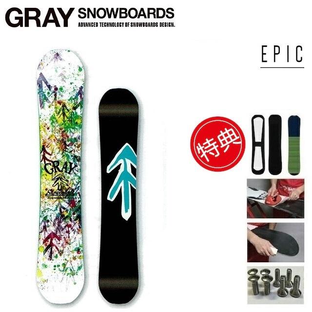 19-20 GRAY EPIC グレイ エピック スノーボード 板 メンズ レディース 144-157 [ソールカバー 初期チューン ショートビス] 特典多数