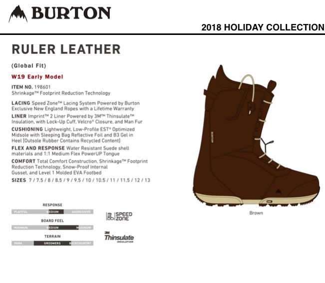 【限定モデル】 BURTON Ruler LEATHER バートン ルーラーレザー ブーツ 正規保証書付