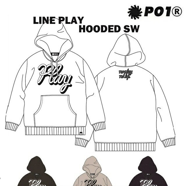 P01 プレイ パーカー LINE PLAY HOODED SW PLAYDESIGN プレイデザイン