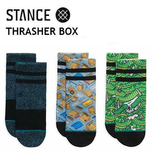 STANCE 直営店 お見舞い SOCKS正規販売店 SOCKS スタンス ソックス THRASHER BOX ボーイズ 3足セット キッズ 靴下 TODDLER KIDS