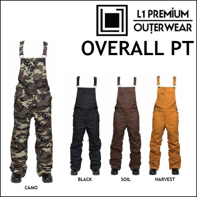 17-18 L1 エルワン ウエア OVERALL PANTS オーバーオール パンツ