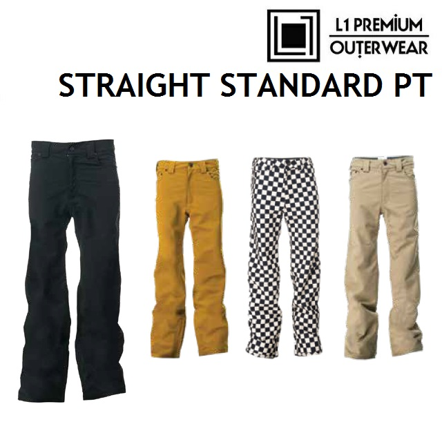 19-20 L1 エルワン STRAIGHT STANDARD PANTS ストレート スタンダード パンツ ウエア メンズ スノーボード日本正規品