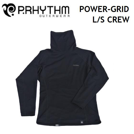 P.RHYTHM プリズム インナー POWER-GRID L/S CREW POLARTEC